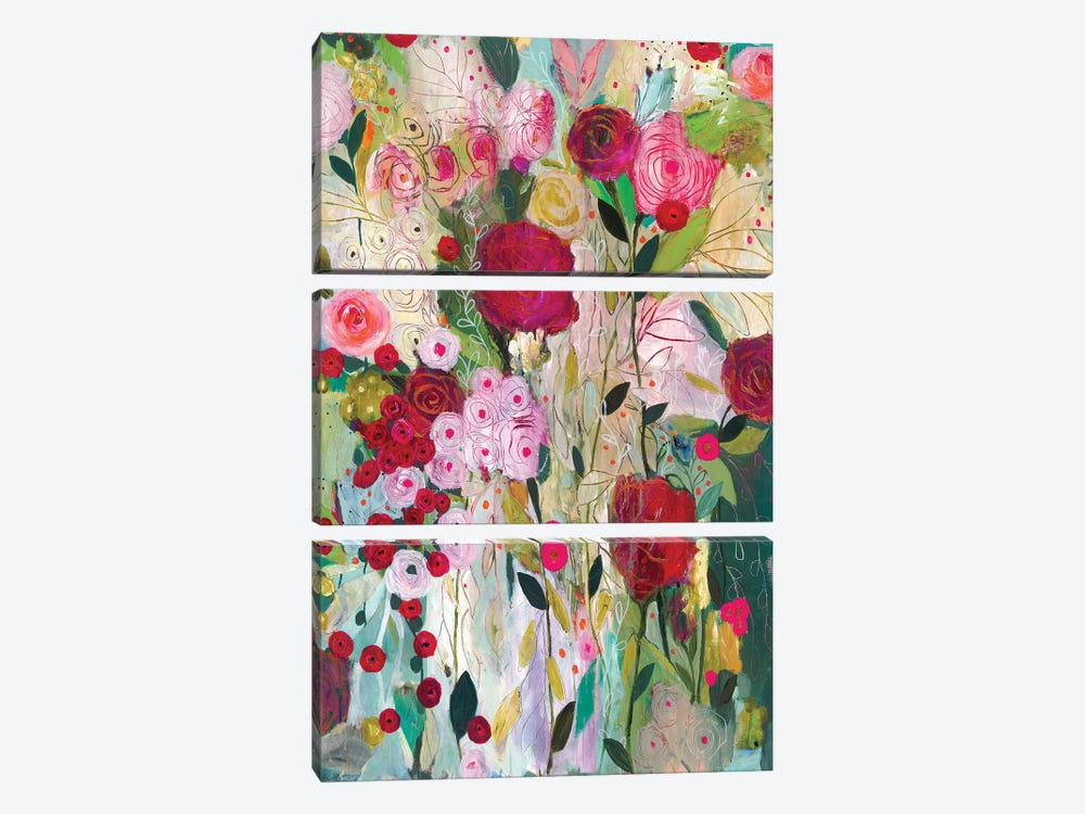 Wild Rose by Carrie Schmitt 3-piece Canvas Art