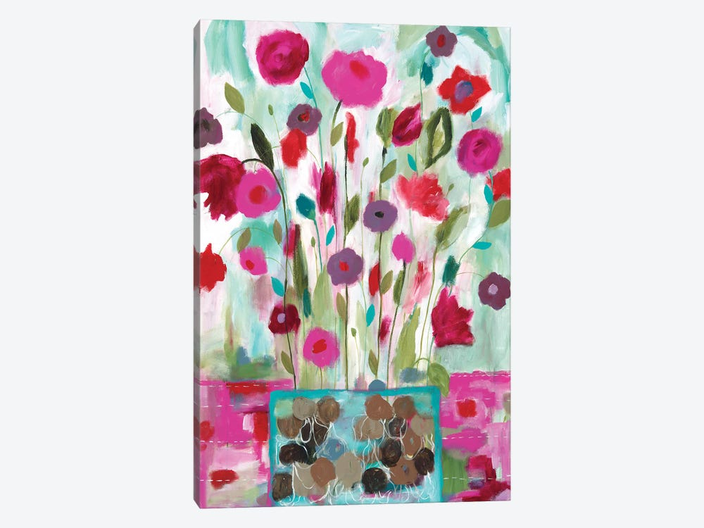 Winter Blooms I by Carrie Schmitt 1-piece Canvas Art