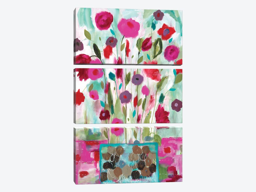 Winter Blooms I by Carrie Schmitt 3-piece Canvas Artwork