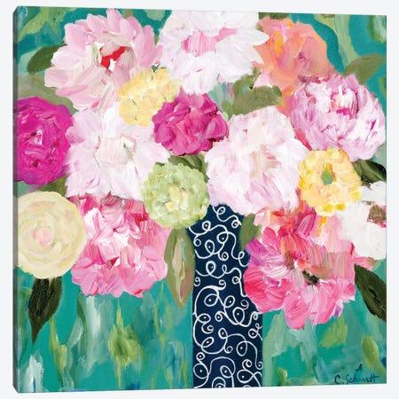 Botanical Splash Canvas Print #SMT18} by Carrie Schmitt Canvas Print