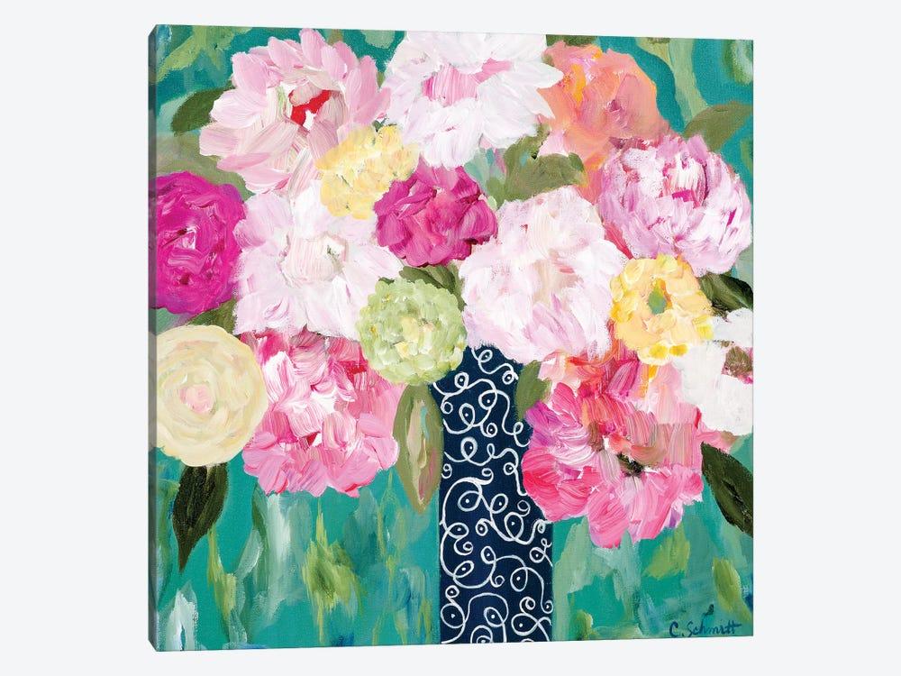 Botanical Splash by Carrie Schmitt 1-piece Canvas Art
