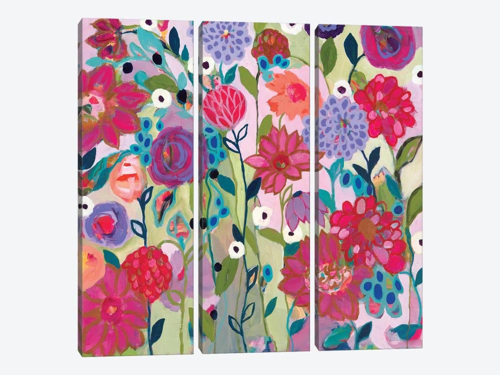 Adventures On The Garden Path by Carrie Schmitt 3-piece Canvas Print
