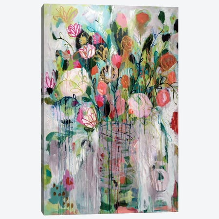 Bouquet Canvas Print #SMT25} by Carrie Schmitt Canvas Art Print