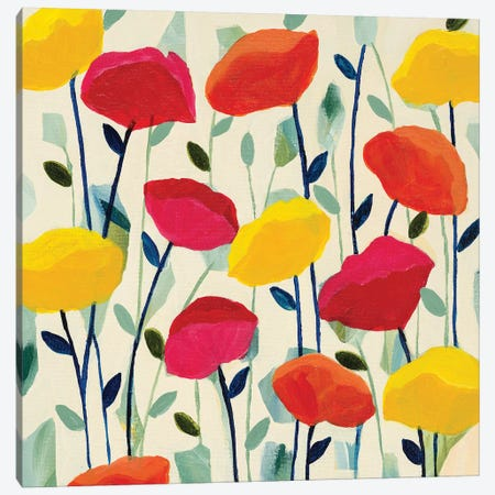 Cheerful Poppies Canvas Print #SMT27} by Carrie Schmitt Art Print