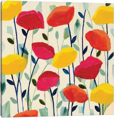 Cheerful Poppies Canvas Art Print