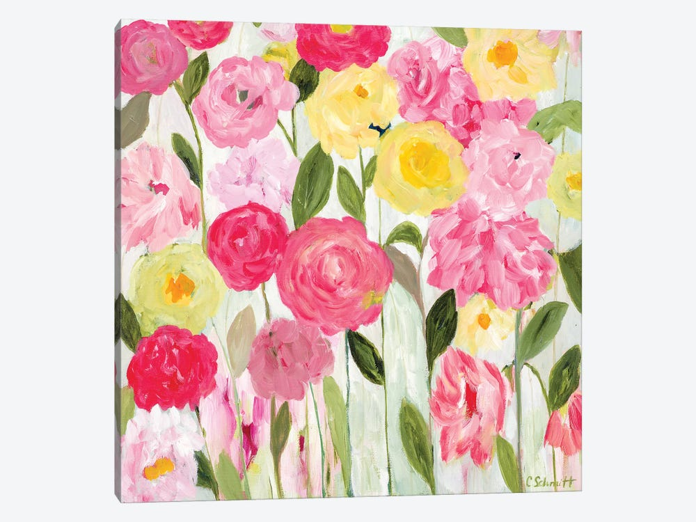Margaret's Flowers 1-piece Canvas Wall Art