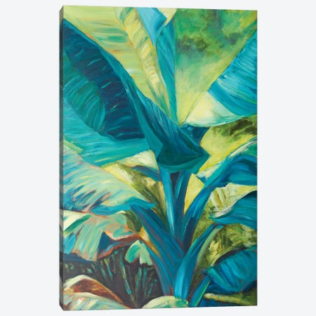 Green Banana Duo I Canvas Print #SMW10} by Suzanne Wilkins Canvas Wall Art