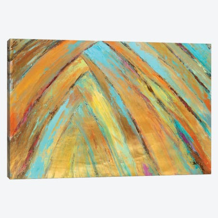 Crazy Fronds Diptych II Canvas Print #SMW15} by Suzanne Wilkins Art Print