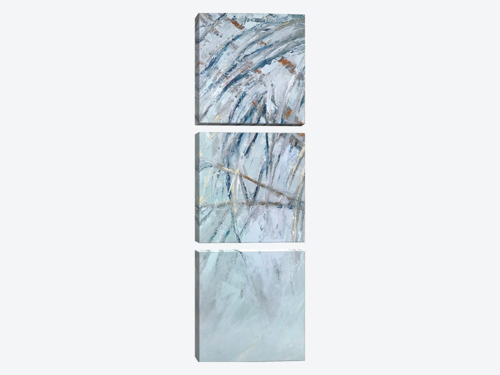 Grey Palms I by Suzanne Wilkins 3-piece Canvas Wall Art