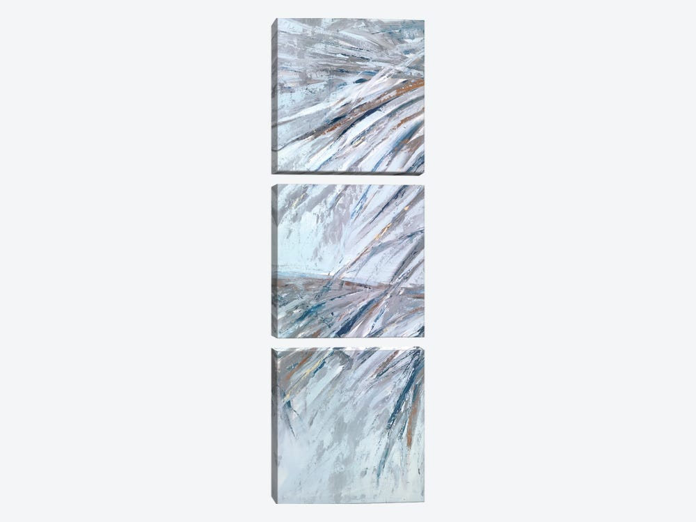 Grey Palms III by Suzanne Wilkins 3-piece Canvas Artwork