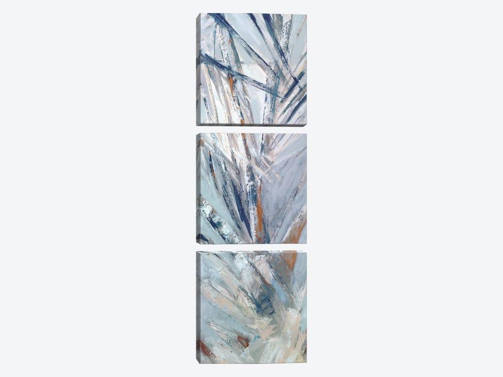 Grey Palms IV by Suzanne Wilkins 3-piece Canvas Print