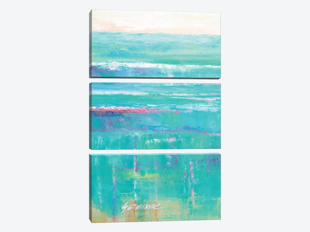 Beneath The Sea I by Suzanne Wilkins 3-piece Canvas Wall Art