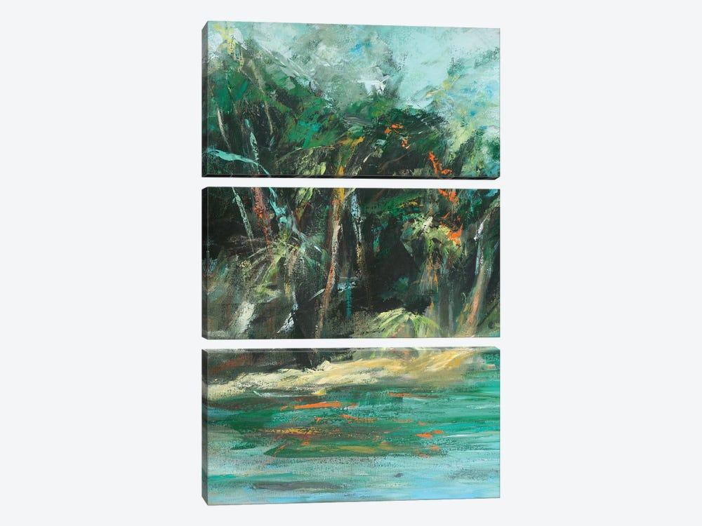 Waterway Jungle I by Suzanne Wilkins 3-piece Canvas Art