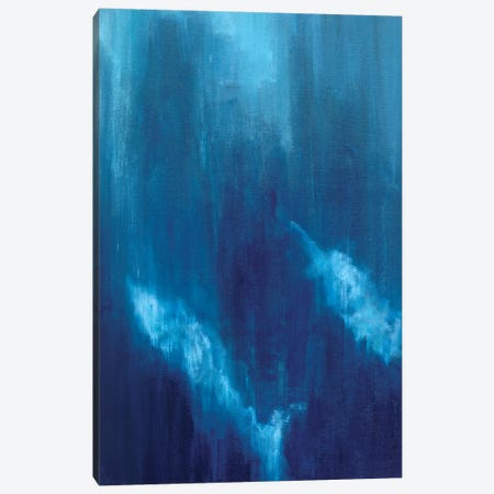 Azul Profundo Triptych I Canvas Print #SMW29} by Suzanne Wilkins Canvas Print