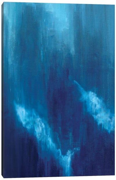 Azul Profundo Triptych I Canvas Art Print