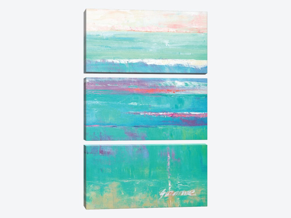 Beneath The Sea II by Suzanne Wilkins 3-piece Canvas Print
