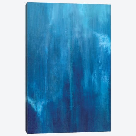 Azul Profundo Triptych II Canvas Print #SMW30} by Suzanne Wilkins Canvas Artwork