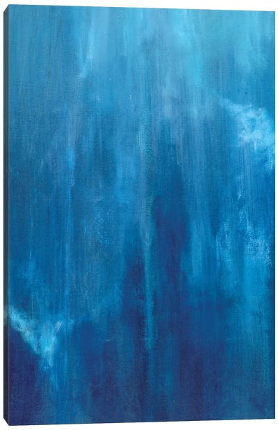 Azul Profundo Triptych II Canvas Art Print
