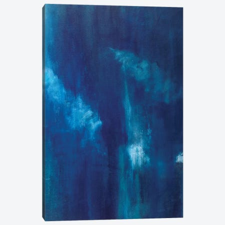 Azul Profundo Triptych III Canvas Print #SMW31} by Suzanne Wilkins Canvas Wall Art