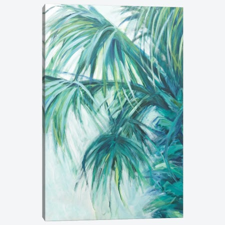 Blue Palmetto Canvas Print #SMW32} by Suzanne Wilkins Canvas Artwork