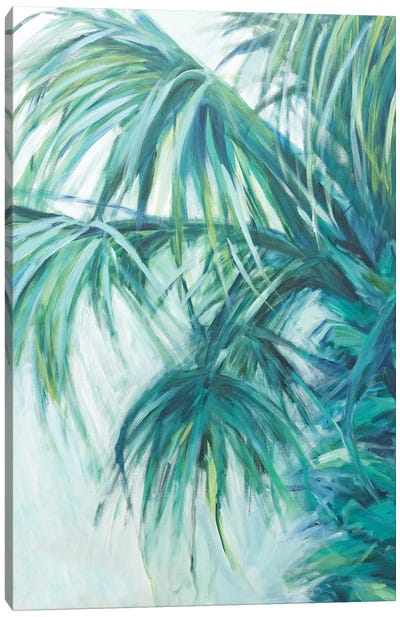 Blue Palmetto Canvas Art Print