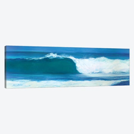 Blue Barrel Canvas Print #SMW37} by Suzanne Wilkins Canvas Print