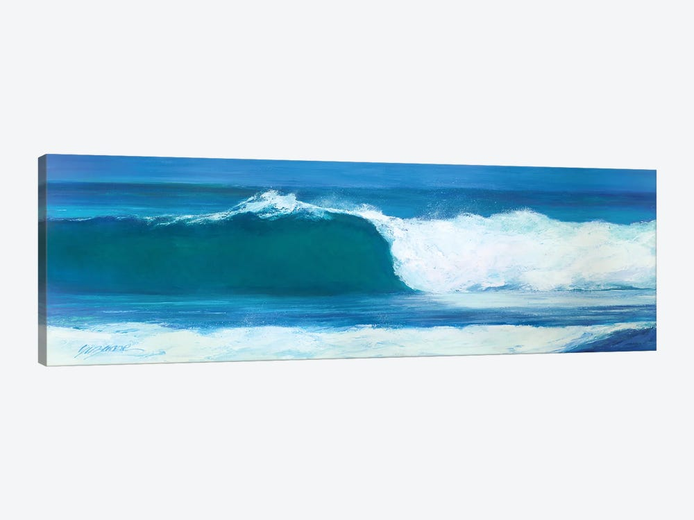 Blue Barrel by Suzanne Wilkins 1-piece Canvas Print