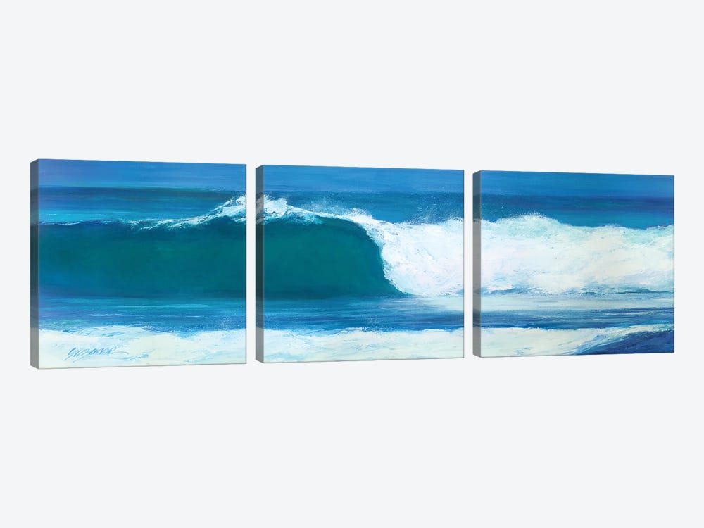 Blue Barrel by Suzanne Wilkins 3-piece Canvas Art Print