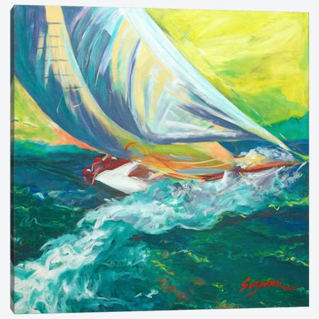 Regatta Colores Canvas Print #SMW6} by Suzanne Wilkins Canvas Art