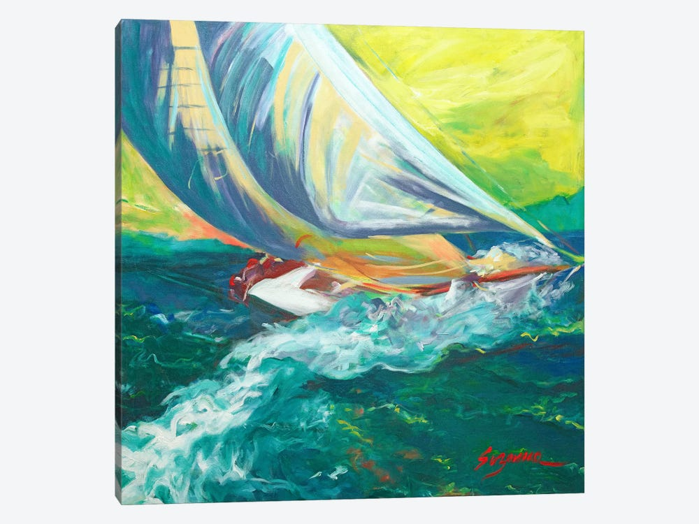 Regatta Colores by Suzanne Wilkins 1-piece Canvas Print