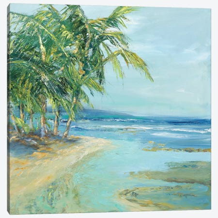 Blue Coastal Lagoon Canvas Print #SMW9} by Suzanne Wilkins Art Print