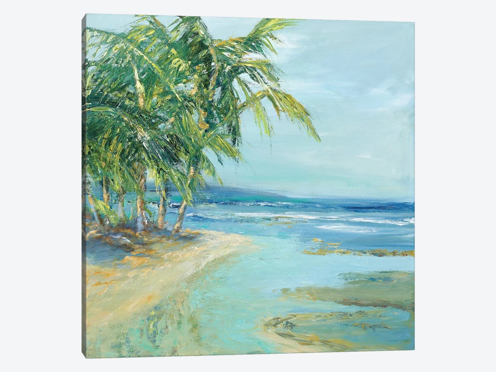 Blue Coastal Lagoon by Suzanne Wilkins 1-piece Canvas Artwork