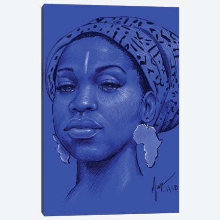 Ola Canvas Print #SMY14} by Sheeba Maya Canvas Art Print