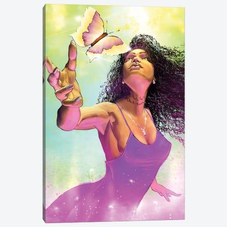 Spring Goddess Canvas Print #SMY17} by Sheeba Maya Art Print