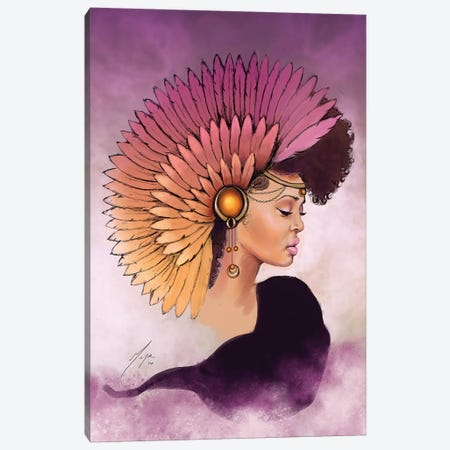 Emi Canvas Print #SMY5} by Sheeba Maya Canvas Artwork