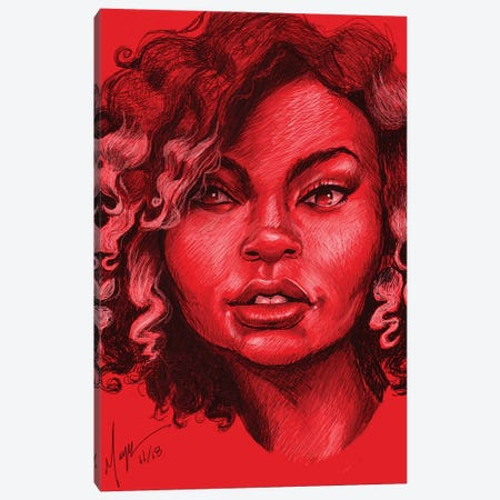 Kwa Shauku Canvas Print #SMY9} by Sheeba Maya Canvas Print