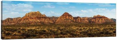 Mountain Range In Red Rock Canyon Nevada Canvas Art Print