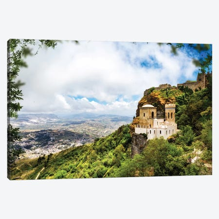 Norman Castle On Mount Erice - Sicily Italy II Canvas Print #SMZ109} by Susan Schmitz Canvas Print