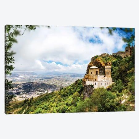 Norman Castle On Mount Erice - Sicily Italy II Canvas Print #SMZ109} by Susan Schmitz Canvas Print