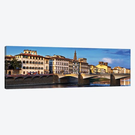 Ponte Vecchio Bridge At Twilight Canvas Print #SMZ121} by Susan Schmitz Canvas Print