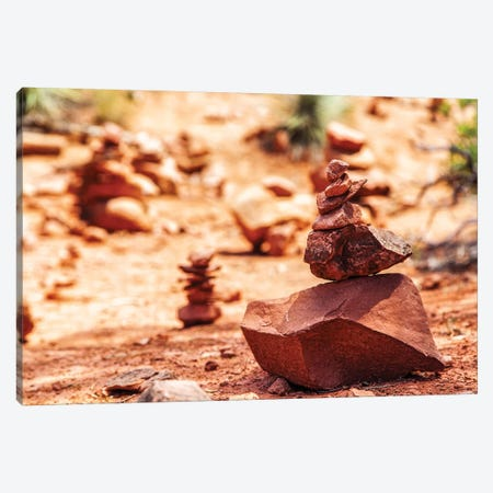 Rock Pile At Vortex In Sedona Arizona Canvas Print #SMZ127} by Susan Schmitz Canvas Artwork