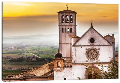 St Francis Of Assisi Church At Sunrise Canvas Art Print