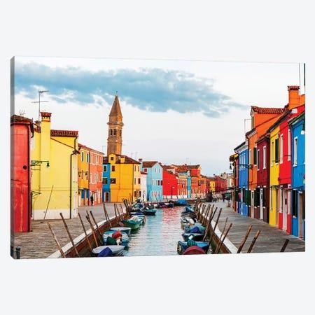 Street Scene In Burano Italy Canvas Print #SMZ151} by Susan Schmitz Canvas Artwork