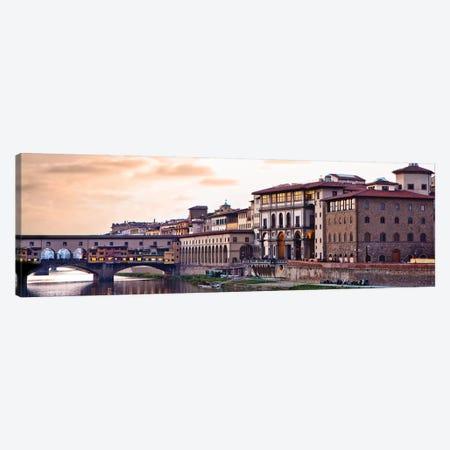 Sunset Over Ponte Vecchio Canvas Print #SMZ155} by Susan Schmitz Canvas Print