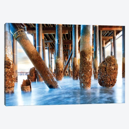 Under Stearns Wharf In Santa Barbara California Canvas Print #SMZ168} by Susan Schmitz Canvas Print
