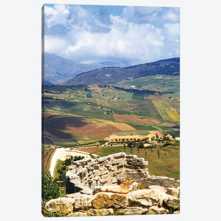 View From Segesta Overlooking Rolling Hills In Valley Canvas Print #SMZ169} by Susan Schmitz Canvas Print