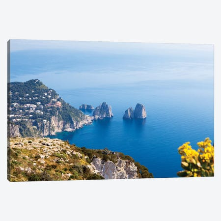 View Of Amalfi Coast Canvas Print #SMZ170} by Susan Schmitz Canvas Artwork