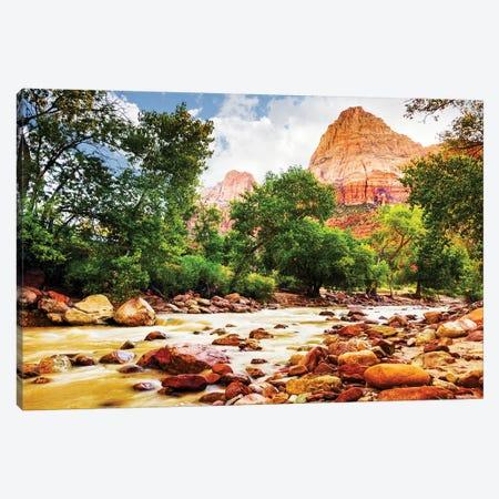 Virgin River In Zion National Park - Utah USA Canvas Print #SMZ173} by Susan Schmitz Canvas Wall Art