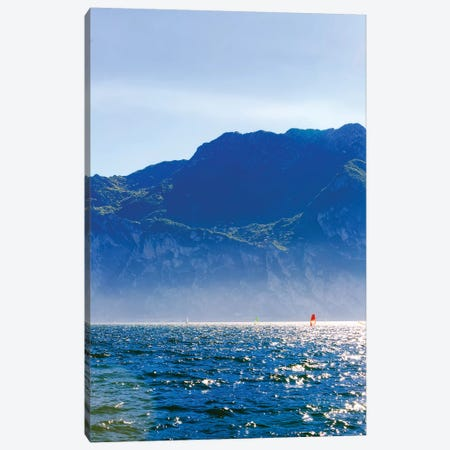 Wind Surfing In Riva Del Garda Canvas Print #SMZ186} by Susan Schmitz Canvas Art