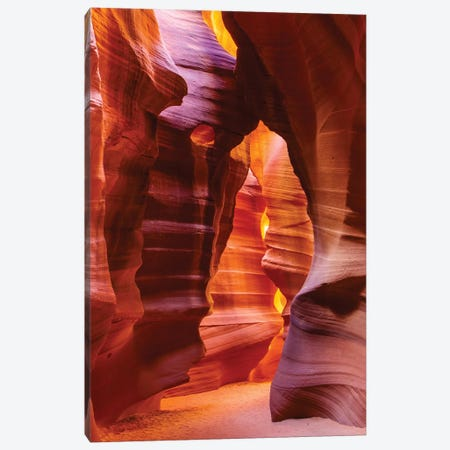 Bear Shape In Antelope Canyon Canvas Print #SMZ22} by Susan Schmitz Canvas Wall Art